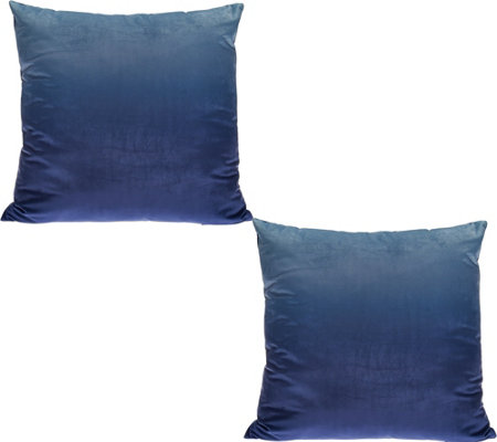 LOGO by Lori Goldstein Set of 2 Ombre Decorative Pillows