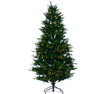 """As Is"" Santa's Best 6.5' RGB 2.0 Green Balsam Fir Christmas Tree"