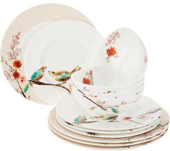 Lenox Chirp 12-Piece Bone China Dinnerware Set - H213984  sc 1 st  QVC.com & Dinnerware u2014 Tabletop u0026 Bar u2014 Kitchen u0026 Food u2014 QVC.com