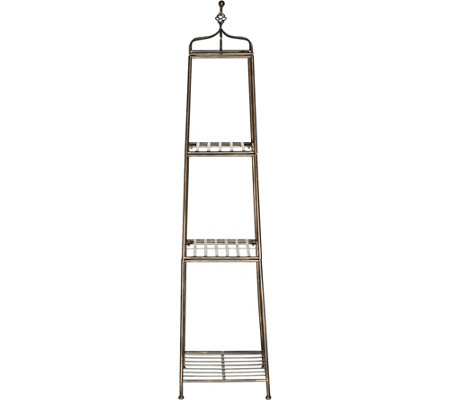 """As Is"" 3-Tier 60"" Metal Wrought Iron Decorative Etagere"