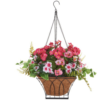 """As Is"" Bethlehem Lights Indoor/ Outdoor Pansy Hanging Basket"