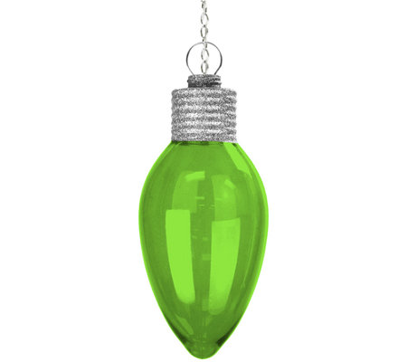 Exhart Solar Large Christmas Bulb Ornament