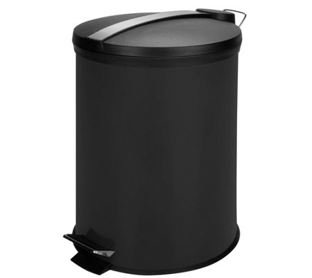 Honey-Can-Do 12-Liter Step Trash Can w/Stainless Accent