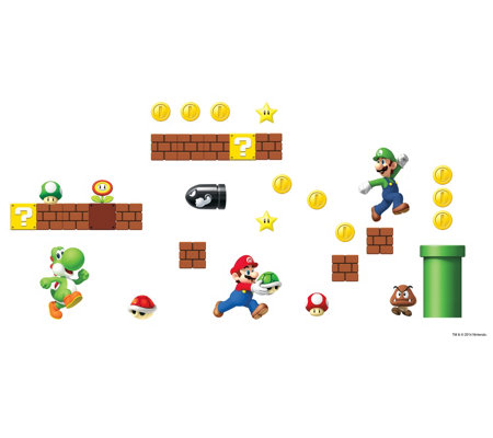 RoomMates Nintendo Super Mario Peel & Stick Wall Decals
