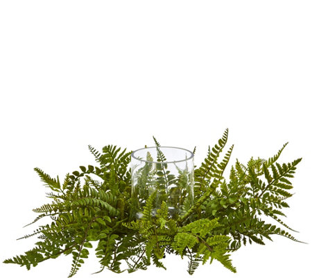 Mixed Fern Arrangement Candelabrum By Nearly Natural