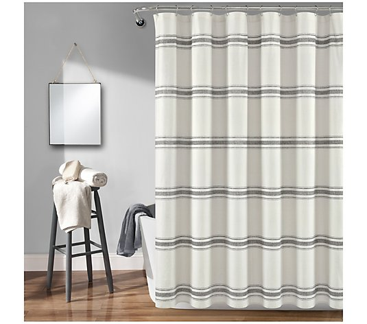 """13 Lush Spring Wedding Decorations To Bring To Life Your: Farmhouse Stripe 72"""" X 72"""" Shower Curtain By Lush Decor"""
