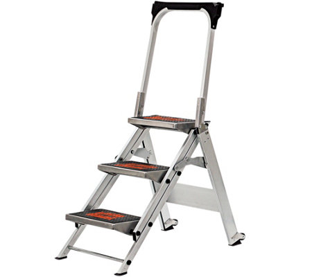 Little Giant Safety 3-Step Ladder No Rating 300 -lb Capacity