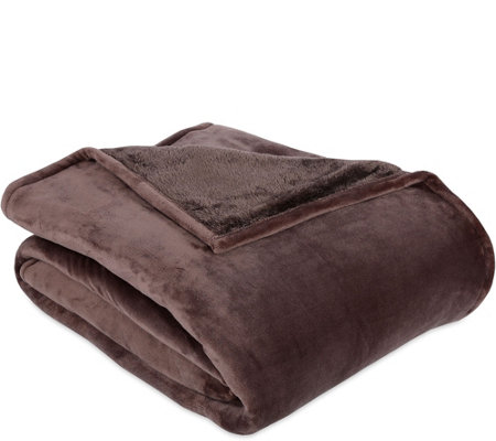 Berkshire Blanket Queen Velvet Soft Reverse to Fluffie Blanket