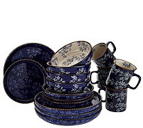 Temp-tations Floral Lace 16-Piece Deep Dish Dinnerware Set - H214685