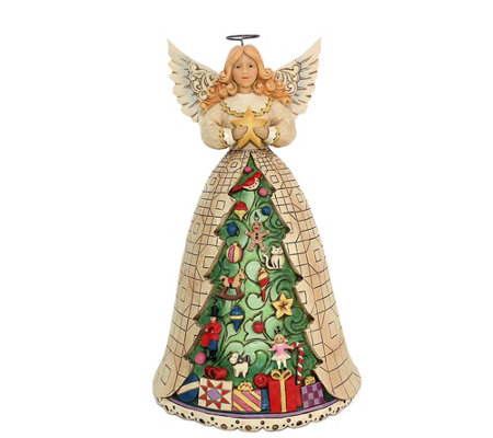 Jim Shore Heartwood Creek Angel with Christmas Tree Dress