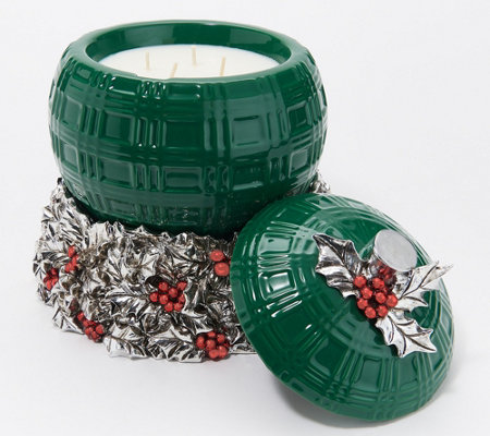 HomeWorx by Harry Slatkin Green Filled Ornament and Candle Holder