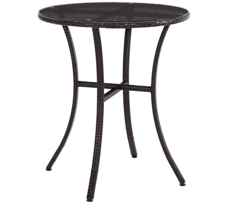 Palm Harbor Outdoor Wicker Bistro Table