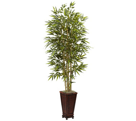 6' Bamboo Tree with Decorative Planter by Nearly Natural
