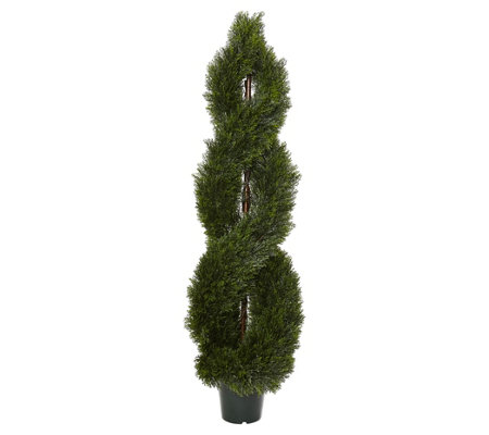 5' Pond Cypress Spiral Topiary Tree by Nearly Natural