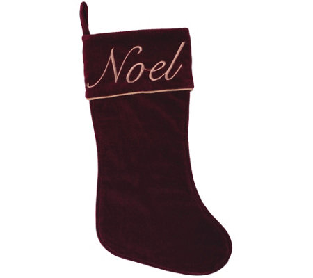 "19"" x 8"" Noel Collection Stocking by Vickerman"