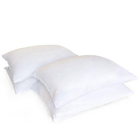 Hanes Set of 4 AAFA Certified Down AlternativeJumbo Pillows