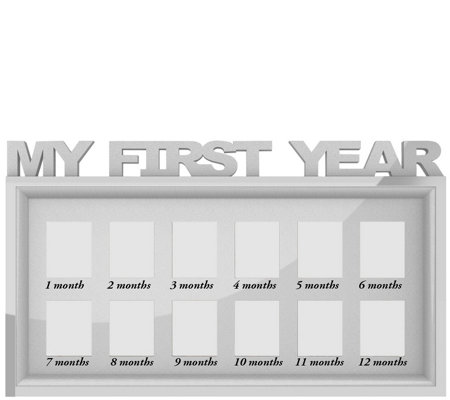 Lavish Home My First Year Keepsake Frame for 12Months