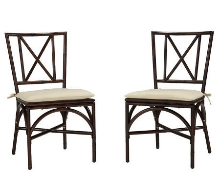Home Styles Outdoor Bimini Jim Set of 2 DiningChair w Cushion