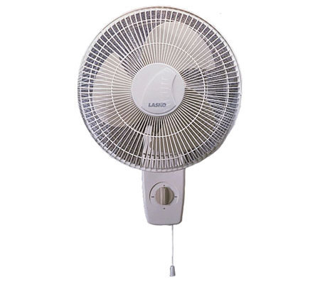 "Lasko 12"" Oscillating Wall-Mount Fan"
