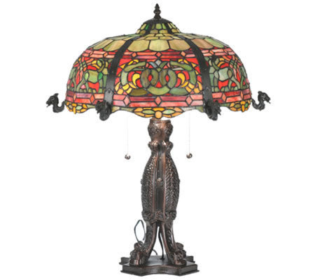 "Tiffany Style 25""H Viking D&K Table Lamp"