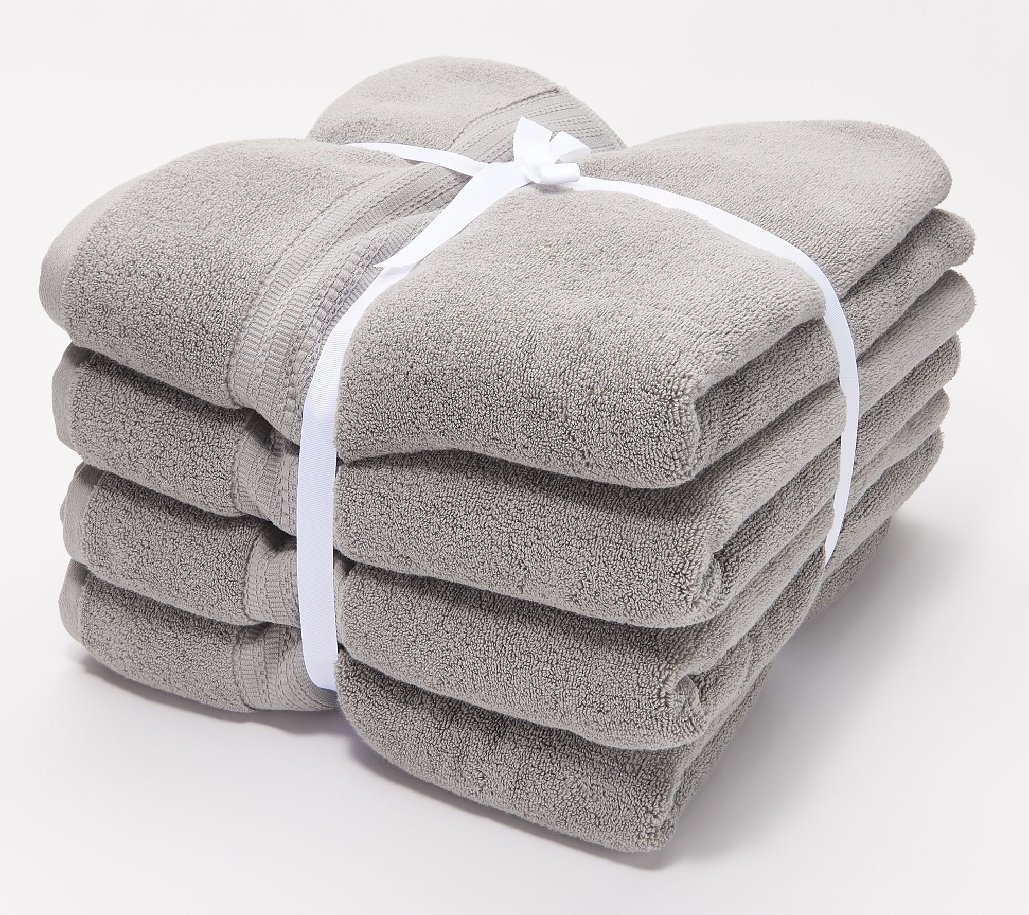 Northern Nights Set Of 4 100 Cotton 600 Gsm Bath Towels Qvc Com