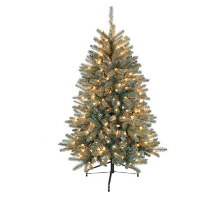 4 5 Blue Mountain Fir Artificial Tree 250 Clear Lights