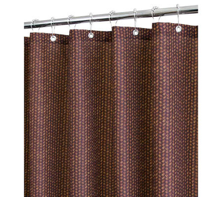 Watershed 2-in-1 Bamboo Basket 72x72 Shower Curtain