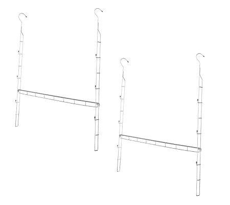 Closet Doubler Set Of 2 Adjustable Double Hanging Closet Rods