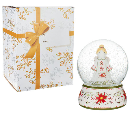 Temp-tations Battery Op. Angel Snowglobe with Gift Box