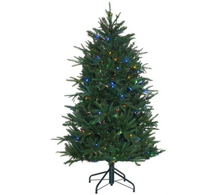 Santa's Best 5' Heritage Spruce Tree with 7 Function LED Lights