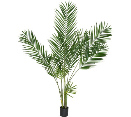 5' Faux Majestic Palm Tree with Potted Base by Valerie