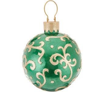 kringle express indooroutdoor 14 illuminated fiberoptic ornament h215587 - Qvc Outdoor Christmas Decorations