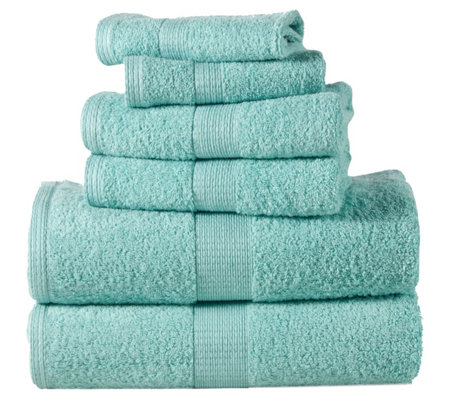 Casa Platino Low-Twist Cotton 6-Piece Towel Set