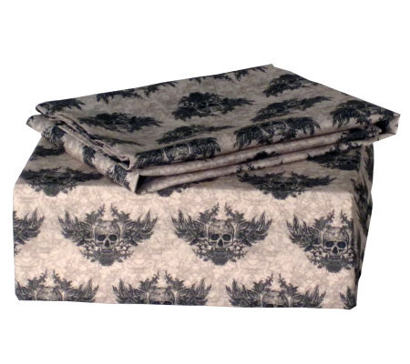 Veratex Winged Skull Full Sheet Set
