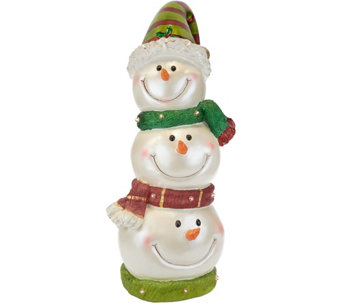kringle express illuminated indooroutdoor snowman head stack h215588 - Qvc Outdoor Christmas Decorations
