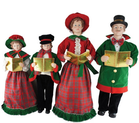 "Set of 4 27"" to 37"" Christmas Day Carolers by Santa's Workshop"