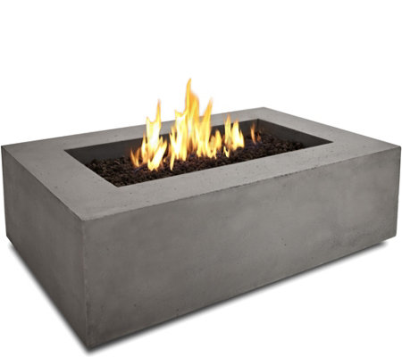 Real Flame Baltic Rectangle Natural Gas Fire Table