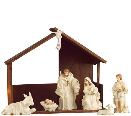 Belleek Classic Nativity Scene with Stable
