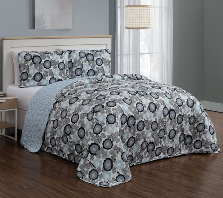 Geneva Home Fashion Marka 3 Piece King Quilt Set