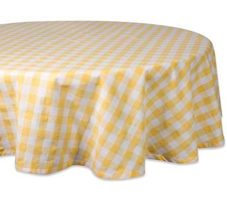 Design Imports Checkers Tablecloth 70 Round
