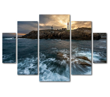 Lavish Home Mathieu Rivrin The Lighthouse 5 Piece Print
