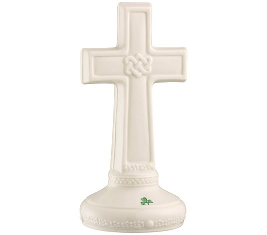 Belleek Pottery Love Knot Cross