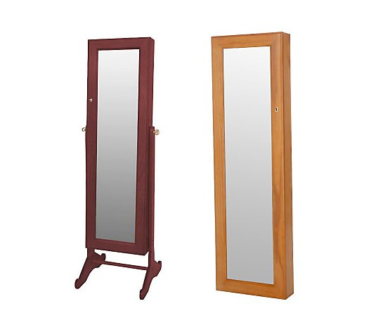Gold Silver Safekeeper Mirrored, Gold Silver Safekeeper Mirrored Jewelry Cabinet By Lori Greiner
