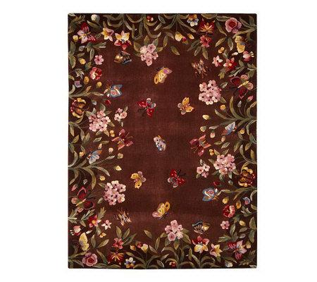 Royal Palace Butterfly Harmony 5 X 7 Handmade Wool Rug Page 1