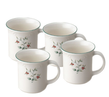 Pfaltzgraff Winterberry Set/4 Coffee Mugs