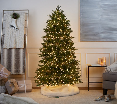 santas best 65 grand noble tree with functions led gumdrop lights