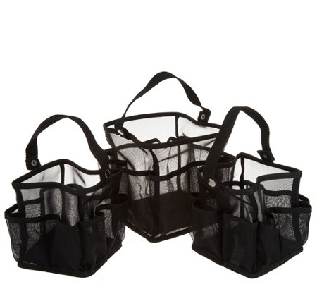 """As Is"" Set of 3 Carrying Caddies by Lori Greiner"
