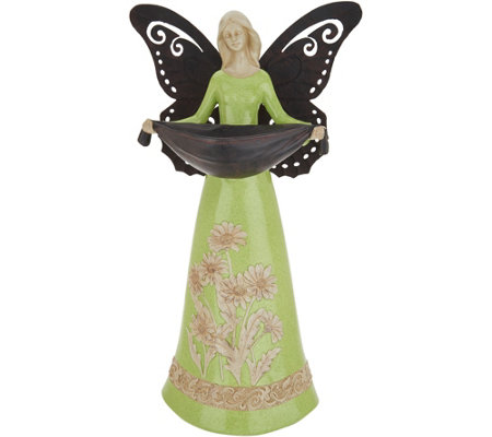 "17"" Decorative Indoor/Outdoor Angel Birdfeeder by Valerie"