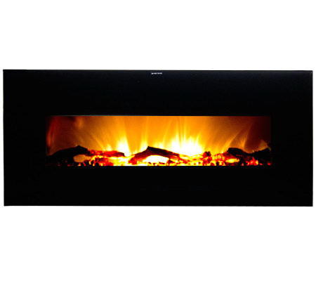 Warm House Valencia Wide Wall-Hanging ElectricFireplace