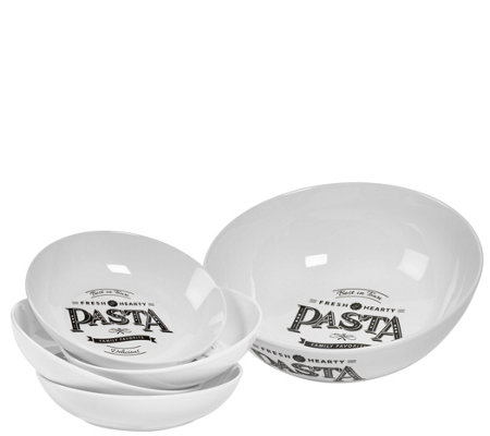 Tabletops Gallery 5-Piece Best in Town Round Pasta Set